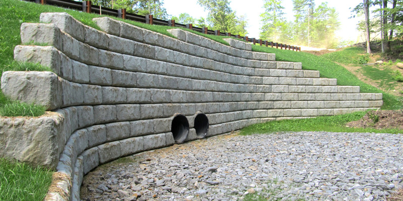 Precast Concrete Limestone : Redi rock wall llc brighton mi