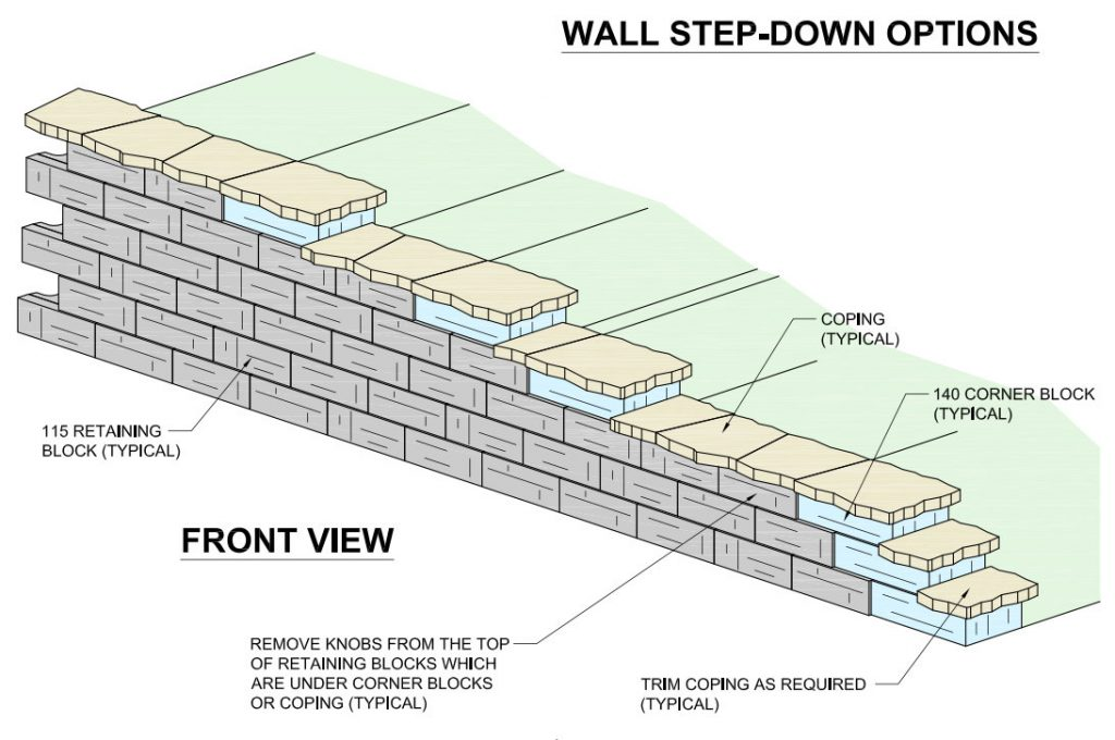 Redi-Scape Wall Step Down Detail option1a