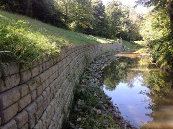 Riverside Redi-Rock Cobblestone retaining walls