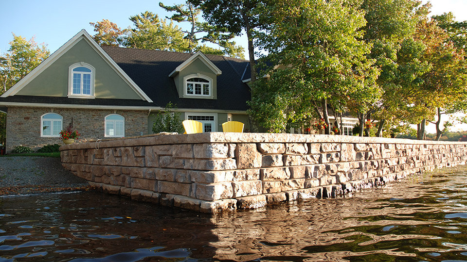 Redi-Rock Ledgestone Channel Seawall