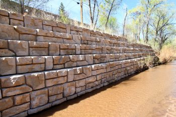 Redi-Rock Ledgestone gravity seawall