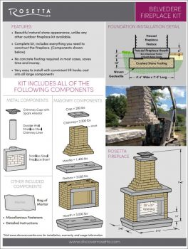Rosetta Belvedere Fireplace Kit