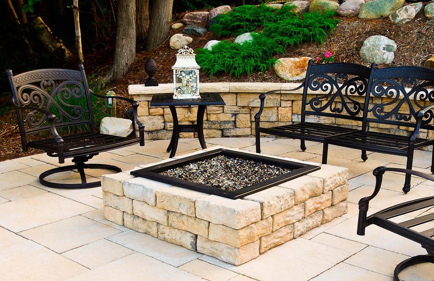 Rosetta Square Fire-Pit Kit