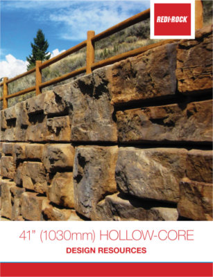 "41"" Hollow Core Redi-Rock Block Brochure 2020"